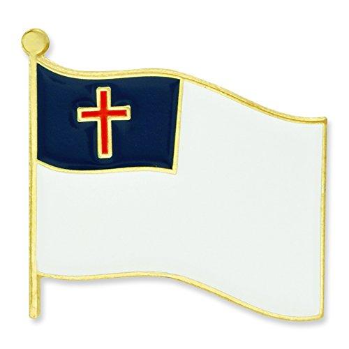 PinMart's Christian Flag Religious Enamel Lapel Pin
