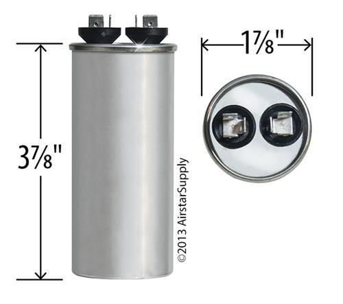 Jard 12741 - 30 uF MFD x 440 VAC Genteq Replacement Capacitor Round # C430R / 97F9635 517OXKPEfuL