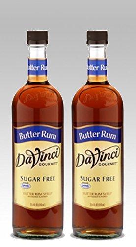 DaVinci Gourmet Sugar Free Butter Rum Flavored Syrup 2 Bottles by DaVinci Gourmet (Butter Rum Free Sugar)