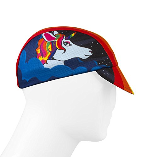 Rainbow Unicorn, One of a Kind Cycling Cap – Made in the USA