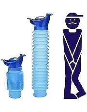 Nood-urinal-mini auto intrekbare urinoir, unisex volwassen draagbare toiletpotje fles, 75 0ML Mannelijke en vrouwelijke zak toilet voor kampeerauto reizen verkeersopstopping en wachtrijen