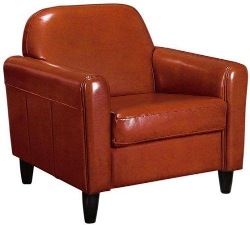 Amazon.com: Cannes Leather Club Chair, STANDARD, BURNT ORANGE: Kitchen U0026  Dining