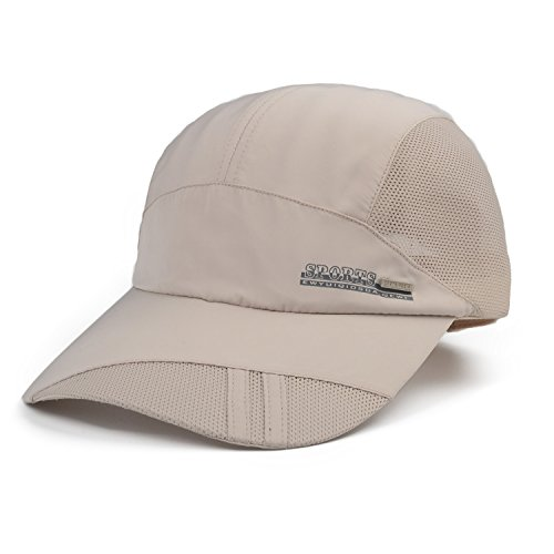Flammi Quick Drying Mesh Baseball Cap Sun Runner Cap For Men & Women (Beige) (Mesh Beige Hat)