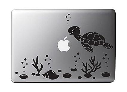 Cute sea turtle ocean scene vinyl decal sticker for 13 macbook laptop computer