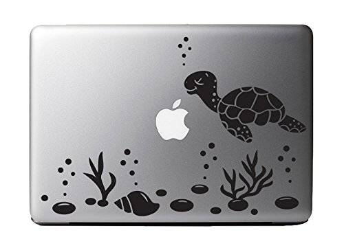 Cute Sea Turtle Ocean Scene Vinyl Decal Sticker for 13