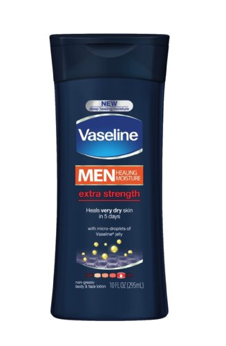 Body Butter Vs Body Lotion - Vaseline Extra Strength Body and Face Lotion for Men, 10 Ounce