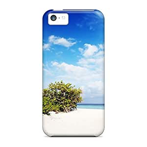 Awesome Nature Beach Flip Case With Fashion Design For Iphone 5c
