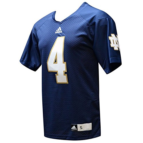 Notre Dame Fighting Irish Adidas 2013 Navy #4 Premier Jersey (M) (Dame Notre Adidas Jersey)