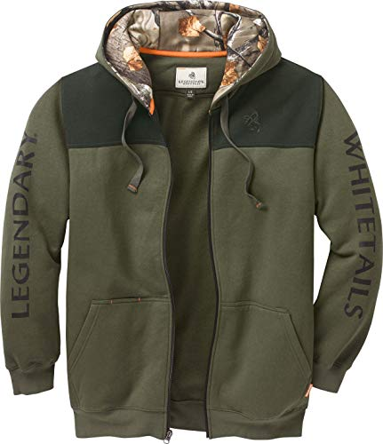 Legendary Whitetails Men's Sportsman Full Zip Hoodie Army Small (Clothing Mens Camo)