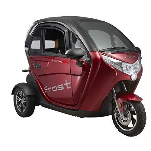 Scooter Electrico Adulto 3 ruedas Movilidad reducida Coche eléctrico Ciclomotor 45km/h ROJO: Amazon.es: Coche y moto