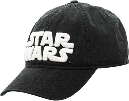 Star Wars Logo Black Adjustable Cap Baseball Hat