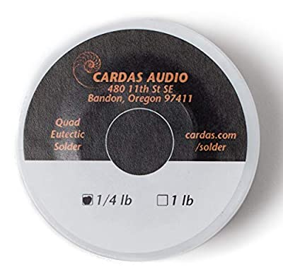 Cardas Soldering Wire Quad Eutectic Silver Solder with rosin flux 1/4 lbs (113g) roll