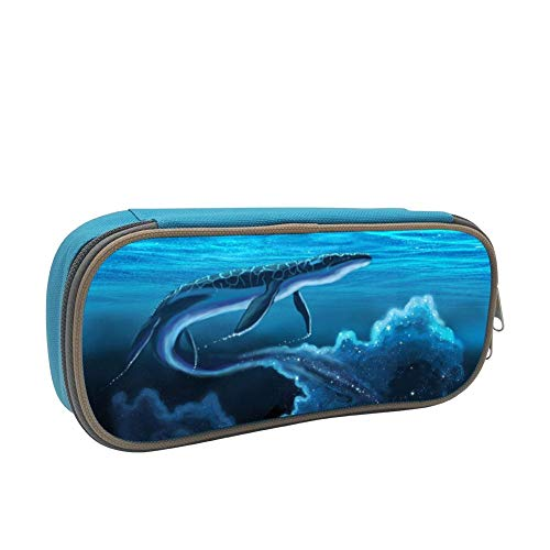tolbert wisfins Galaxy Mosasaurus Pencil Case Stationary Case with Zipper Pencil Bag for School Office Blue