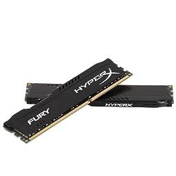 Kingston HyperX FURY 16GB Kit (2x8GB) 1600MHz DDR3 CL10 DIMM - Black (HX316C10FBK2/16)