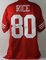 e4b3e179775 Jerry Rice Signed Jersey - Red - PSA DNA Certified - Autographed NFL Jerseys