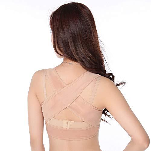 Skin tone (3 sets) XXLarge FS Posture Corrector Spinal Support Back&Shoulder&Neck Pain Relief and Support BeltAdjustable Posture Brace for Improve Bad Posture   Thoracic Kyphosis Brace   Posture Support for Women