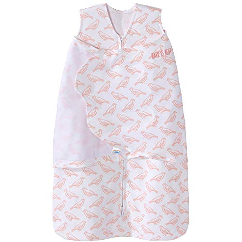 HALO 100% Cotton Sleepsack Swaddle Wearable Blanket, Birdie Blush, Small