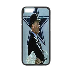 Dallas Cowboys Series, IPhone 6 Plus Cases, Tom Landry Dallas Cowboys Cases for IPhone 6 Plus [Black]
