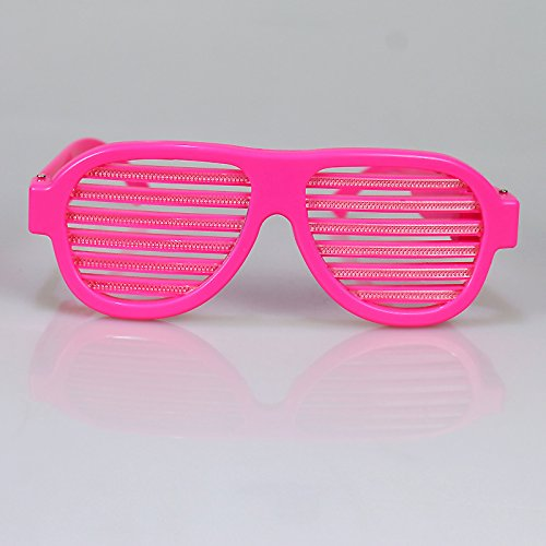 IREALIST Pink Frame USB Rechargeable LED Light up Glasses Sound Activated Shutter Shades Glasses Volume Sensitivity Adjustable Eyewear, 1 Pairs (Led Shutter Shades)