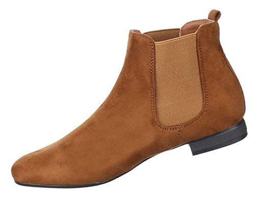 Damen Stiefeletten Schuhe Moderne Boots Schwarz Camel Grau Pink Gelb 36 37 38 39 40 41 Camel