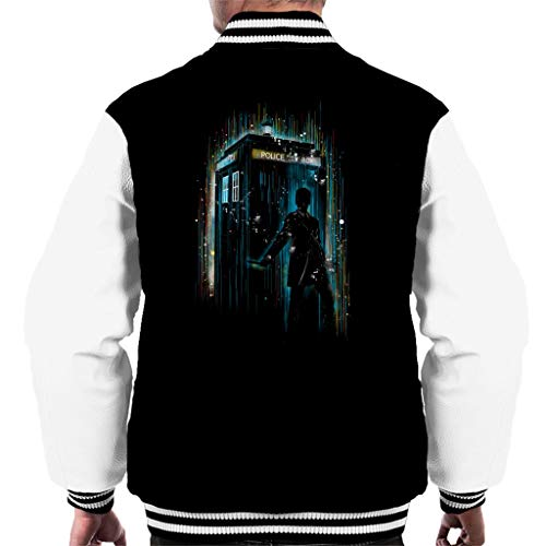 Doctor Jacket white Who 12th Multicolour 7 Men's Black City Varsity Cloud 6nqZxBwE8C