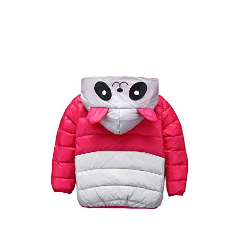 Boys Girl Warm 4 red Fairy Coat 5T red Snowsuit Cartoon Winter Baby Panda Outwear Jacket Little Size EAw4xqzwt
