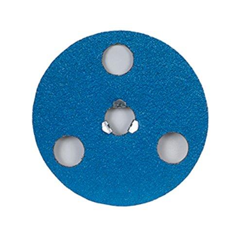 "Norton BlueFire F826P AVOS Edger Speed-Lok Abrasive Disc, Fiber Backing, Zirconia Alumina, 4-1/2"" Diameter, Grit 24 (Box of 25)"