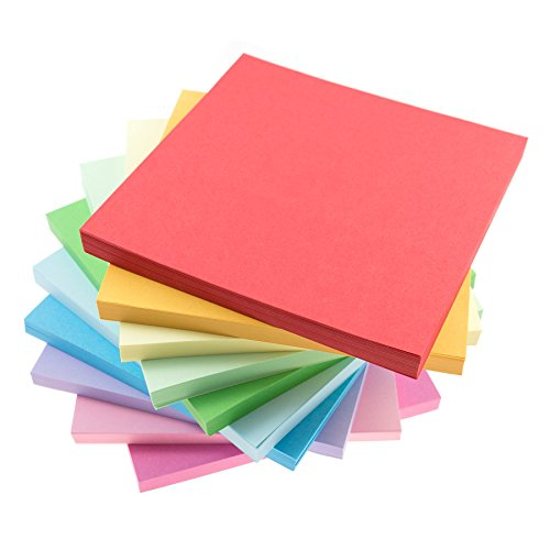 [Origami Crane Paper Kit with Easy Instructions for Beginners – Includes 1000 Large sheets (6x 6) with 10 colors (100 each) - Big size paper will ease the creation of 1000 paper] (Homemade Penguin Costumes)