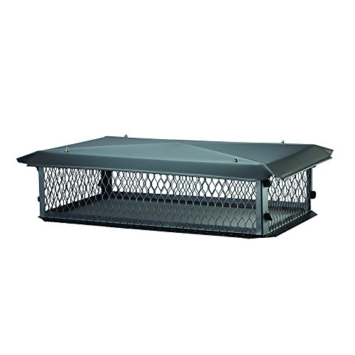 BigTop BBT1729K Big Top Chimney Cover in Black Galvanized (Chimney Cover)