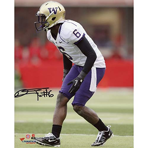 Desmond Trufant Washington Huskies FAN Autographed Signed 8x10 In Coverage Photograph - Certified Signature