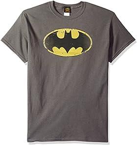 DC Comics Men's Batman Distressed Shield T-Shirt at Gotham City Store