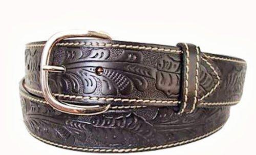 Aquarius Leather Belt (Aquarius Men's Big and Tall Western Cowboy Leather Belt Black Size 50)