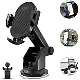 Keklle 2-in- 1 Dashboard Car Phone Mount,Car Phone Holder,Car Air Vent Mount Holder Cradle and Adjustable Windshield Holder Cradle with 360° Rotation for iPhone, Android - 2018 Upgrade