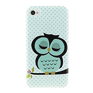 LZXCartoon Owl Style Protective PC Back Case for iPhone 4/4s , White