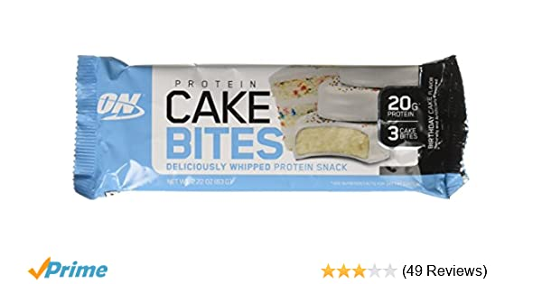 Amazon Optimum Nutrition Birthday Cake Bites Whipped Protein
