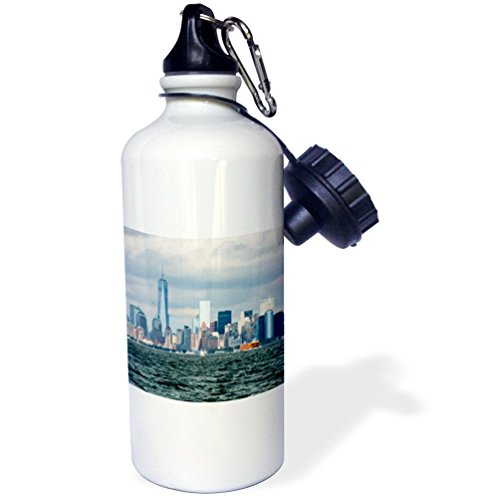 3dRose Nyc And Freedom Tower Sports Water Bottle, Multicolor, 21 oz by 3dRose