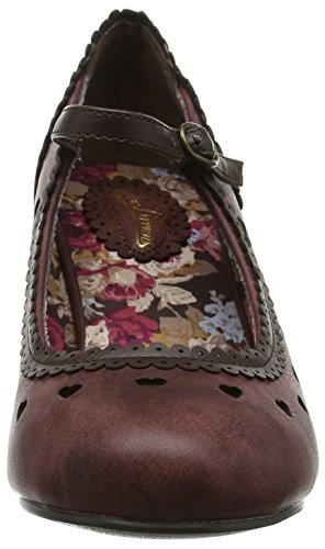 Escarpins Perfectly Pretty Bride Shoes Femme Rouge Wine Cheville Joe Browns IAwqaC