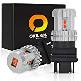 [2018 Newest] OXILAM 3157 LED Bulbs Extremely Bright 4157 3156 3057 3157 LED Brake Lamp for Tail Lights Brake Lights with 12pcs 3020 Chipsets Brilliant Red (2 PACK)