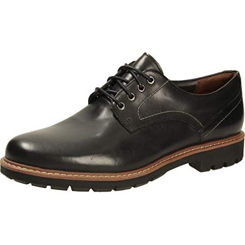 chollos oferta descuentos barato Clarks Batcombe Hall Derby Zapatos de Cordones para Hombre Negro Black Leather 42 EU