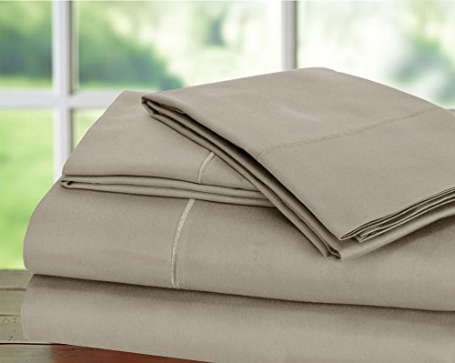 Hotel Collection! Luxury Sheets on Amazon Top Seller in Bedding! - Blockbuster Sale: Todays Special - Luxury 1000 Thread count 100% Egyptian Cotton Sheet Set, Queen - Silver