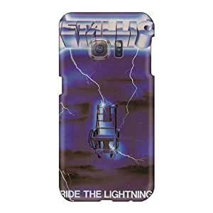 Shock Absorbent Hard Phone Cases For Samsung Galaxy S6 With Custom Realistic Metallica Ride The Lightning Band Series SherriFakhry