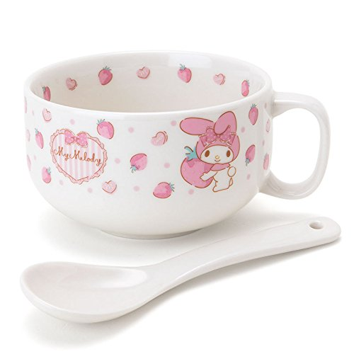 Sanrio My Melody spoon with soup mug cup From Japan New - Melody Soup