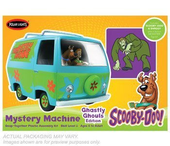 Scooby Doo 1:25 Scale Mystery Machine Van Ghastly Edtion Model Kit by Polar Lights