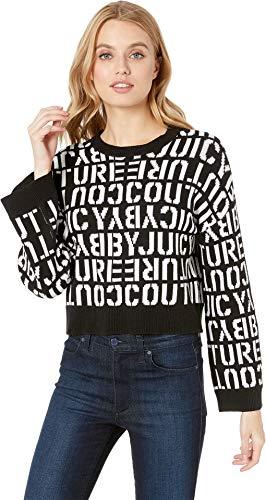 Juicy Couture Women's Juicy Stencil Logo Sweater Black Juicy Stenci Petite/X-Small