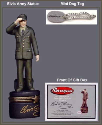 Elvis in the Army PHB ( Porcelain Hinged Box ()