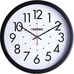 Lorell Clock Black