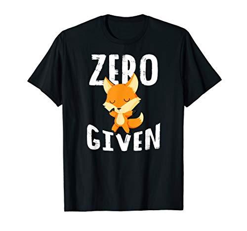 Zero Fox Given Shirt Women Men Cute Tee Gift