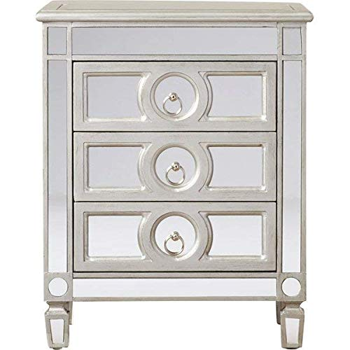 - Willa Arlo Interiors Hall Mirrored 3 Drawer Wood Accent Chest, Silver + Free Basic Design Concepts Expert Guide