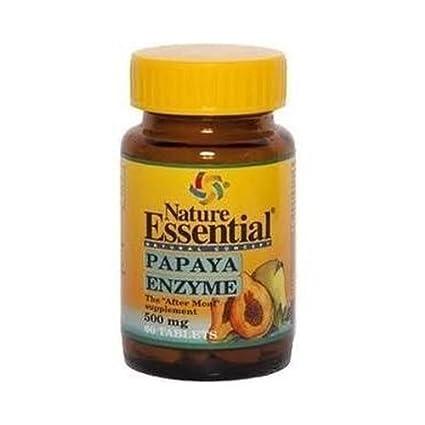 Papaya Enzima 60 Comprimidos de 500 Mg de Nature Essential ...