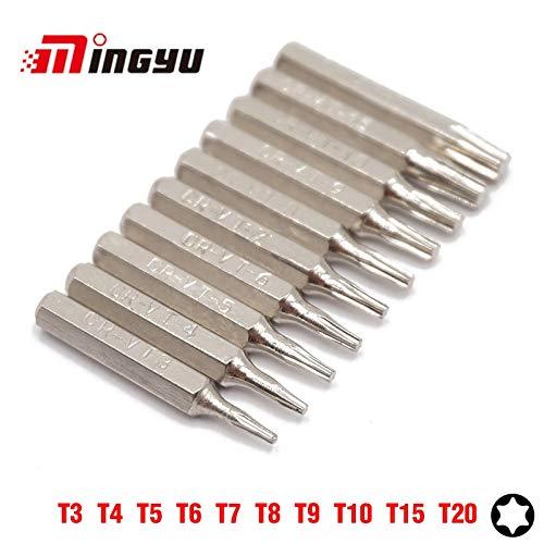 4ec4074a8e Screwdriver MING YU 10Pcs Security Torx T3 T4 T5 T6 T7 T8 T9 T10 T15 T20